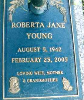 YOUNG, ROBERTA JANE - Sarasota County, Florida | ROBERTA JANE YOUNG - Florida Gravestone Photos