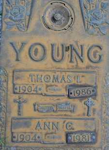 YOUNG, THOMAS I. - Sarasota County, Florida | THOMAS I. YOUNG - Florida Gravestone Photos