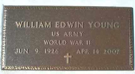 YOUNG (VETERAN WWII), WILLIAM EDWIN - Sarasota County, Florida | WILLIAM EDWIN YOUNG (VETERAN WWII) - Florida Gravestone Photos