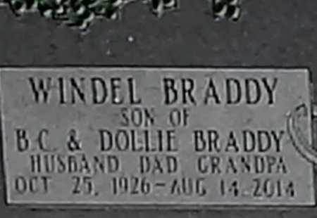 BRADDY, WINDEL  - Seminole County, Florida   WINDEL  BRADDY - Florida Gravestone Photos