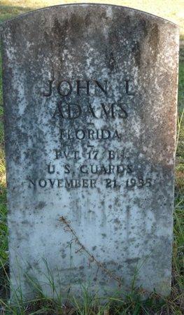 ADAMS (VETERAN), JOHN LOVICK (NEW) - Wakulla County, Florida | JOHN LOVICK (NEW) ADAMS (VETERAN) - Florida Gravestone Photos