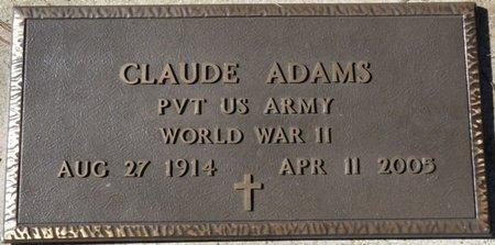 ADAMS (VETERAN WWII), CLAUDE D (NEW) - Wakulla County, Florida   CLAUDE D (NEW) ADAMS (VETERAN WWII) - Florida Gravestone Photos