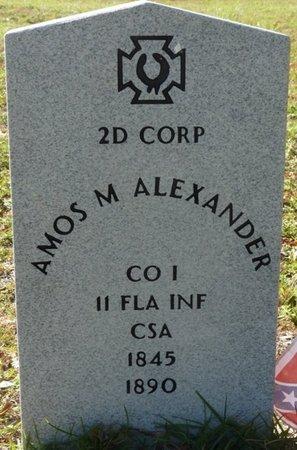 ALEXANDER (VETERAN CSA), AMOS M (NEW) - Wakulla County, Florida | AMOS M (NEW) ALEXANDER (VETERAN CSA) - Florida Gravestone Photos