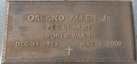 ALLEN JR. (VETERAN WWII), ORLAND E (NEW) - Wakulla County, Florida | ORLAND E (NEW) ALLEN JR. (VETERAN WWII) - Florida Gravestone Photos