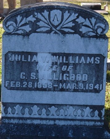 WILLIAMS ALLIGOOD, JULIA VICTORIA - Wakulla County, Florida   JULIA VICTORIA WILLIAMS ALLIGOOD - Florida Gravestone Photos