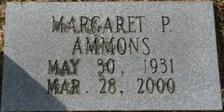 AMMONS, MARGARET P - Wakulla County, Florida   MARGARET P AMMONS - Florida Gravestone Photos