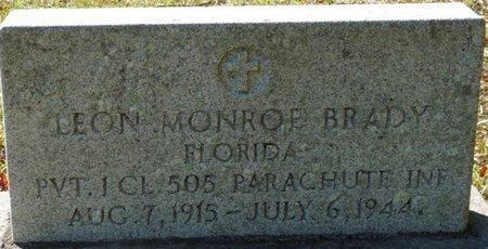 BRADY (VETERAN), LEON MONROE (NEW) - Wakulla County, Florida   LEON MONROE (NEW) BRADY (VETERAN) - Florida Gravestone Photos