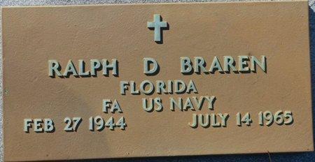 BRAREN (VETERAN), RALPH DURWARD (NEW) - Wakulla County, Florida | RALPH DURWARD (NEW) BRAREN (VETERAN) - Florida Gravestone Photos