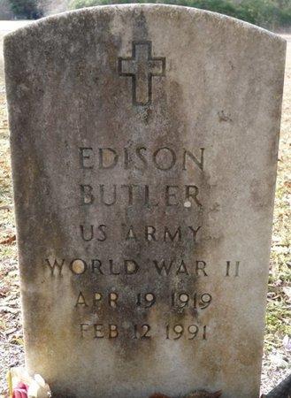 BUTLER (VETERAN WWII), EDISON (NEW) - Wakulla County, Florida | EDISON (NEW) BUTLER (VETERAN WWII) - Florida Gravestone Photos