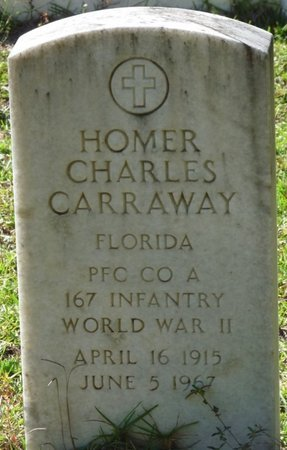 CARRAWAY (VETERAN WWII), HOMER CHARLES (NEW) - Wakulla County, Florida | HOMER CHARLES (NEW) CARRAWAY (VETERAN WWII) - Florida Gravestone Photos