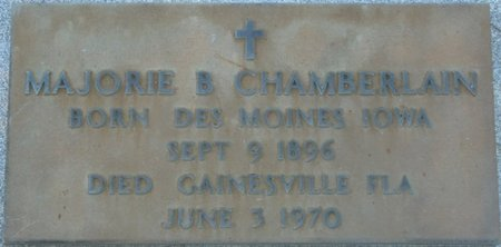 CHAMBERLAIN, MARJORIE B - Wakulla County, Florida | MARJORIE B CHAMBERLAIN - Florida Gravestone Photos