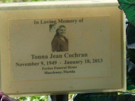 SHIPLEY COCHRAN, TONNA JEAN - Wakulla County, Florida | TONNA JEAN SHIPLEY COCHRAN - Florida Gravestone Photos