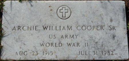 COOPER SR. (VETERAN WWII), ARCHIE WILLIAM (NEW) - Wakulla County, Florida   ARCHIE WILLIAM (NEW) COOPER SR. (VETERAN WWII) - Florida Gravestone Photos