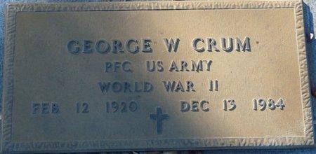 CRUM (VETERAN WWII), GEORGE W (NEW) - Wakulla County, Florida | GEORGE W (NEW) CRUM (VETERAN WWII) - Florida Gravestone Photos