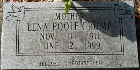 POOLE CRUMP, LENA - Wakulla County, Florida | LENA POOLE CRUMP - Florida Gravestone Photos