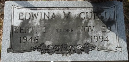 CUPAL, EDWINA M - Wakulla County, Florida | EDWINA M CUPAL - Florida Gravestone Photos