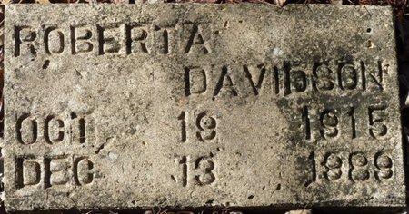DAVIDSON, ROBERTA - Wakulla County, Florida | ROBERTA DAVIDSON - Florida Gravestone Photos