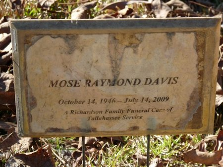 DAVIS, MOSE RAYMOND - Wakulla County, Florida | MOSE RAYMOND DAVIS - Florida Gravestone Photos