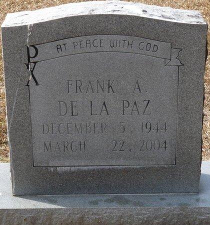 DE LA PAZ, FRANK A - Wakulla County, Florida | FRANK A DE LA PAZ - Florida Gravestone Photos