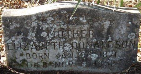 DONALDSON, ELIZABETH - Wakulla County, Florida   ELIZABETH DONALDSON - Florida Gravestone Photos