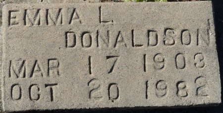 DONALDSON, EMMA L - Wakulla County, Florida | EMMA L DONALDSON - Florida Gravestone Photos
