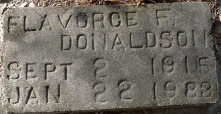 DONALDSON, FLAVORCE F - Wakulla County, Florida | FLAVORCE F DONALDSON - Florida Gravestone Photos