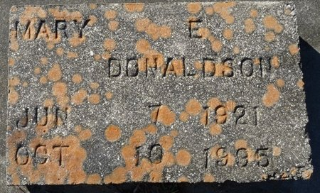 DONALDSON, MARY E - Wakulla County, Florida   MARY E DONALDSON - Florida Gravestone Photos