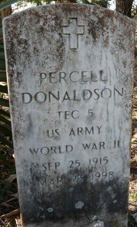 DONALDSON (VETERAN WWII), PERCELL  (NEW) - Wakulla County, Florida   PERCELL  (NEW) DONALDSON (VETERAN WWII) - Florida Gravestone Photos