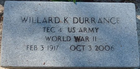 DURRANCE (VETERAN WWII), WILLARD K (NEW) - Wakulla County, Florida | WILLARD K (NEW) DURRANCE (VETERAN WWII) - Florida Gravestone Photos
