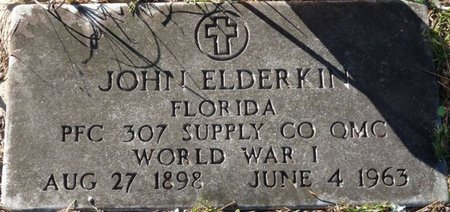 ELDERKIN (VETERAN WWI), JOHN DAVENPORT (NEW) - Wakulla County, Florida | JOHN DAVENPORT (NEW) ELDERKIN (VETERAN WWI) - Florida Gravestone Photos