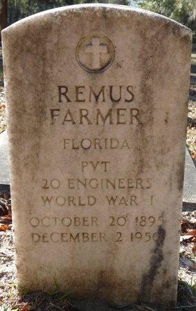 FARMER (VETERAN WWI), REMUS (NEW) - Wakulla County, Florida | REMUS (NEW) FARMER (VETERAN WWI) - Florida Gravestone Photos