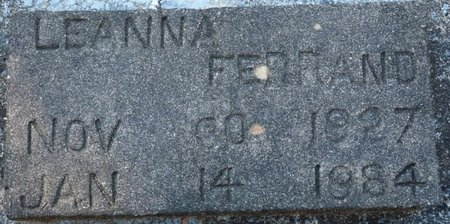 FERRAND, LEANNA - Wakulla County, Florida   LEANNA FERRAND - Florida Gravestone Photos