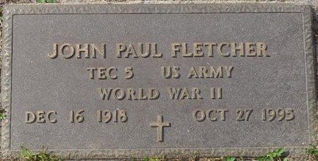 FLETCHER (VETERAN WWII), JOHN PAUL (NEW) - Wakulla County, Florida   JOHN PAUL (NEW) FLETCHER (VETERAN WWII) - Florida Gravestone Photos