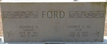 FORD SR., GEORGE F - Wakulla County, Florida   GEORGE F FORD SR. - Florida Gravestone Photos