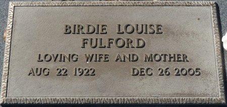 NELSON FULFORD, BIRDIE LOUISE - Wakulla County, Florida | BIRDIE LOUISE NELSON FULFORD - Florida Gravestone Photos