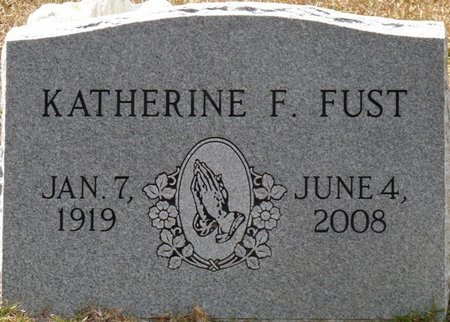 FUST, KATHERINE F - Wakulla County, Florida   KATHERINE F FUST - Florida Gravestone Photos