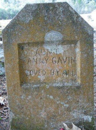 GAVIN, FANNY - Wakulla County, Florida | FANNY GAVIN - Florida Gravestone Photos