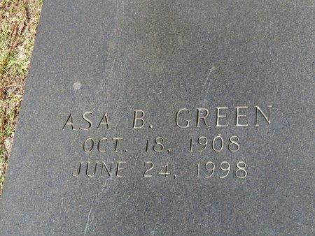 GREEN, ASA B - Wakulla County, Florida | ASA B GREEN - Florida Gravestone Photos