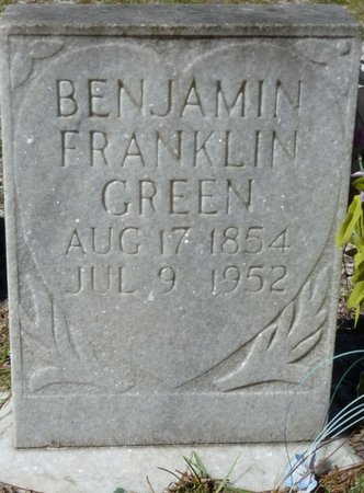 GREEN, BENJAMIN FRANKLIN - Wakulla County, Florida   BENJAMIN FRANKLIN GREEN - Florida Gravestone Photos