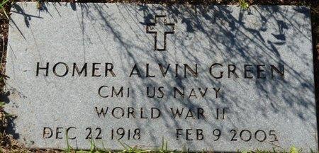 GREEN (VETERAN WWII), HOMER ALVIN (NEW) - Wakulla County, Florida | HOMER ALVIN (NEW) GREEN (VETERAN WWII) - Florida Gravestone Photos