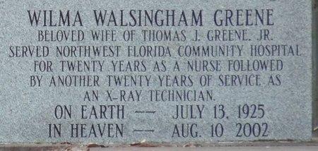 GREENE, WILMA - Wakulla County, Florida | WILMA GREENE - Florida Gravestone Photos