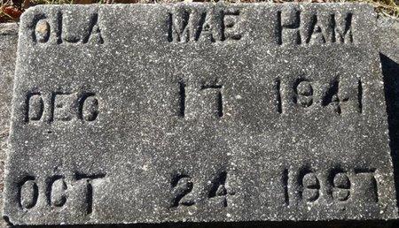 HAM, OLA MAE - Wakulla County, Florida | OLA MAE HAM - Florida Gravestone Photos