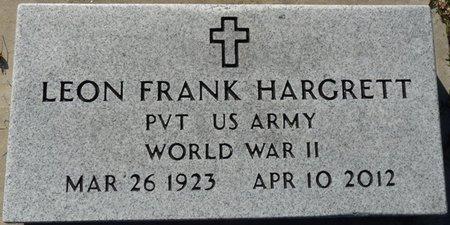 HARGRETT JR. (VETERAN WWII), LEON FRANK (NEW) - Wakulla County, Florida | LEON FRANK (NEW) HARGRETT JR. (VETERAN WWII) - Florida Gravestone Photos