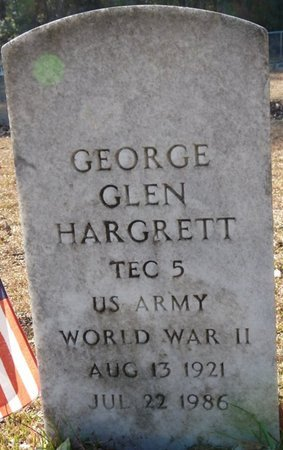 HARGRETT (VETERAN WWII), GEORGE GLEN (NEW) - Wakulla County, Florida | GEORGE GLEN (NEW) HARGRETT (VETERAN WWII) - Florida Gravestone Photos