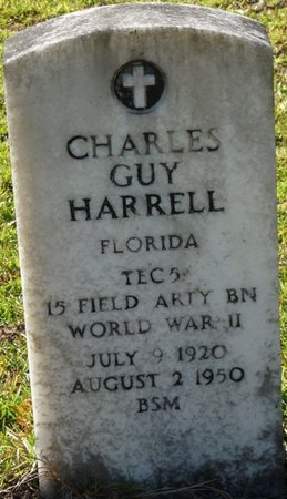 HARRELL (VETERAN WWII), CHARLES GUY (NEW) - Wakulla County, Florida | CHARLES GUY (NEW) HARRELL (VETERAN WWII) - Florida Gravestone Photos
