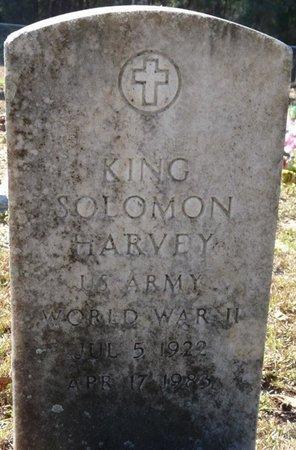 HARVEY (VETERAN WWII), KING SOLOMON (NEW) - Wakulla County, Florida | KING SOLOMON (NEW) HARVEY (VETERAN WWII) - Florida Gravestone Photos