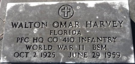 HARVEY (VETERAN WWII), WALTON OMAR (NEW) - Wakulla County, Florida | WALTON OMAR (NEW) HARVEY (VETERAN WWII) - Florida Gravestone Photos