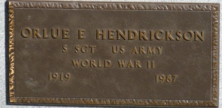 HENDRICKSON SR. (VETERAN WWII), ORLUE EUGENE (NEW) - Wakulla County, Florida | ORLUE EUGENE (NEW) HENDRICKSON SR. (VETERAN WWII) - Florida Gravestone Photos