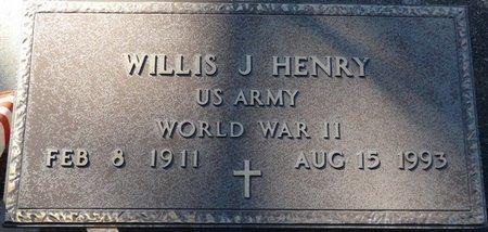 HENRY (VETERAN WWII), WILLIS J (NEW) - Wakulla County, Florida | WILLIS J (NEW) HENRY (VETERAN WWII) - Florida Gravestone Photos