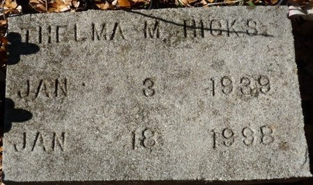 HICKS, THELMA M - Wakulla County, Florida   THELMA M HICKS - Florida Gravestone Photos